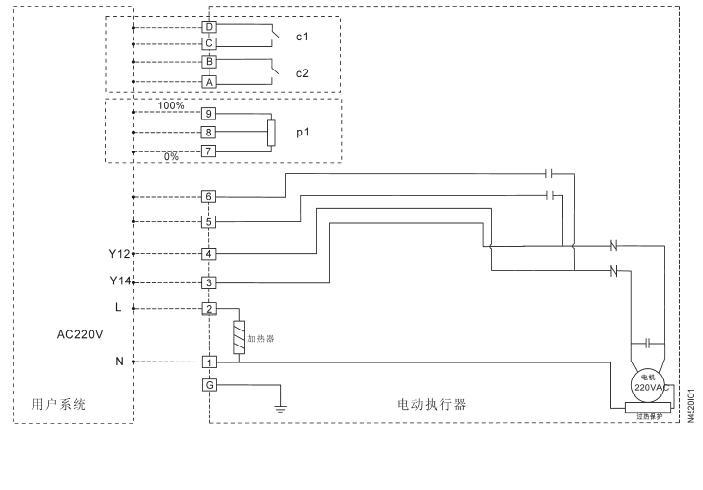 西门子sql321b内部接线图_西门子电动执行器资料_阀门图片